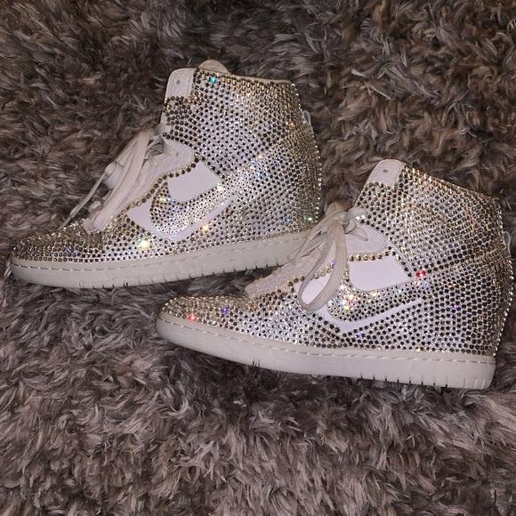 Nike Shoes | Swarovski Crystal Nike